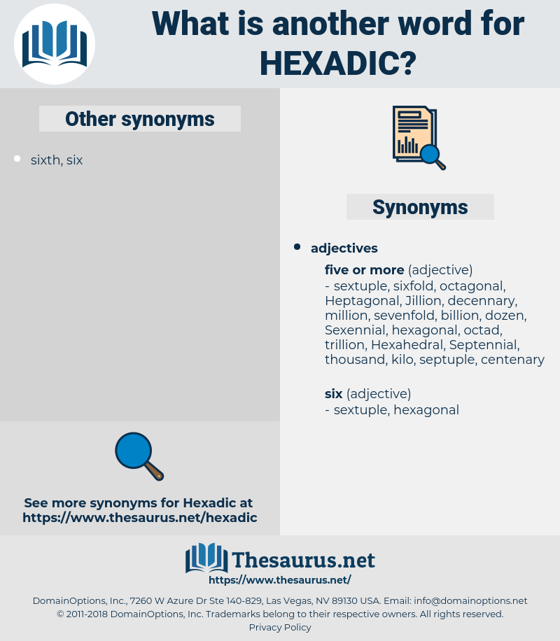 hexadic, synonym hexadic, another word for hexadic, words like hexadic, thesaurus hexadic