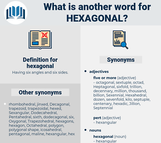 hexagonal, synonym hexagonal, another word for hexagonal, words like hexagonal, thesaurus hexagonal