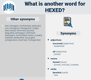 hexed, synonym hexed, another word for hexed, words like hexed, thesaurus hexed