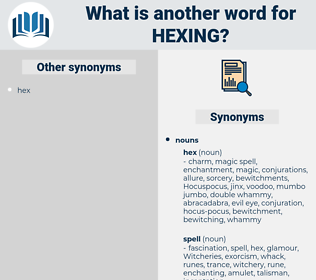 hexing, synonym hexing, another word for hexing, words like hexing, thesaurus hexing