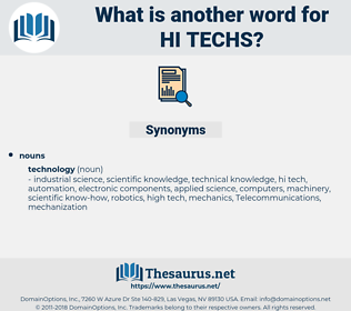 hi techs, synonym hi techs, another word for hi techs, words like hi techs, thesaurus hi techs
