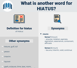 hiatus, synonym hiatus, another word for hiatus, words like hiatus, thesaurus hiatus