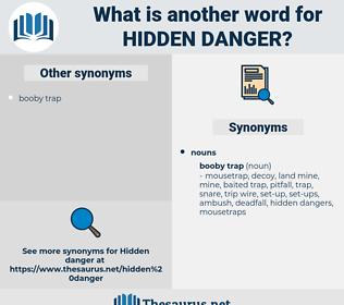hidden danger, synonym hidden danger, another word for hidden danger, words like hidden danger, thesaurus hidden danger