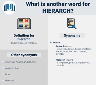 hierarch, synonym hierarch, another word for hierarch, words like hierarch, thesaurus hierarch