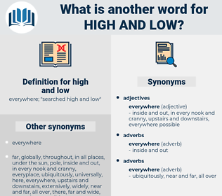high and low, synonym high and low, another word for high and low, words like high and low, thesaurus high and low