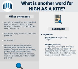 high as a kite, synonym high as a kite, another word for high as a kite, words like high as a kite, thesaurus high as a kite