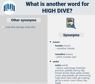 high dive, synonym high dive, another word for high dive, words like high dive, thesaurus high dive
