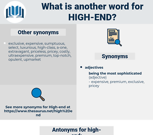 high-end, synonym high-end, another word for high-end, words like high-end, thesaurus high-end