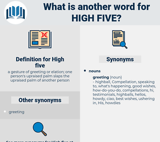 high-five, synonym high-five, another word for high-five, words like high-five, thesaurus high-five