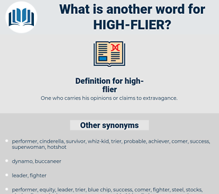 high-flier, synonym high-flier, another word for high-flier, words like high-flier, thesaurus high-flier