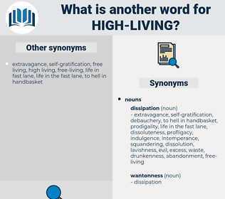 high living, synonym high living, another word for high living, words like high living, thesaurus high living