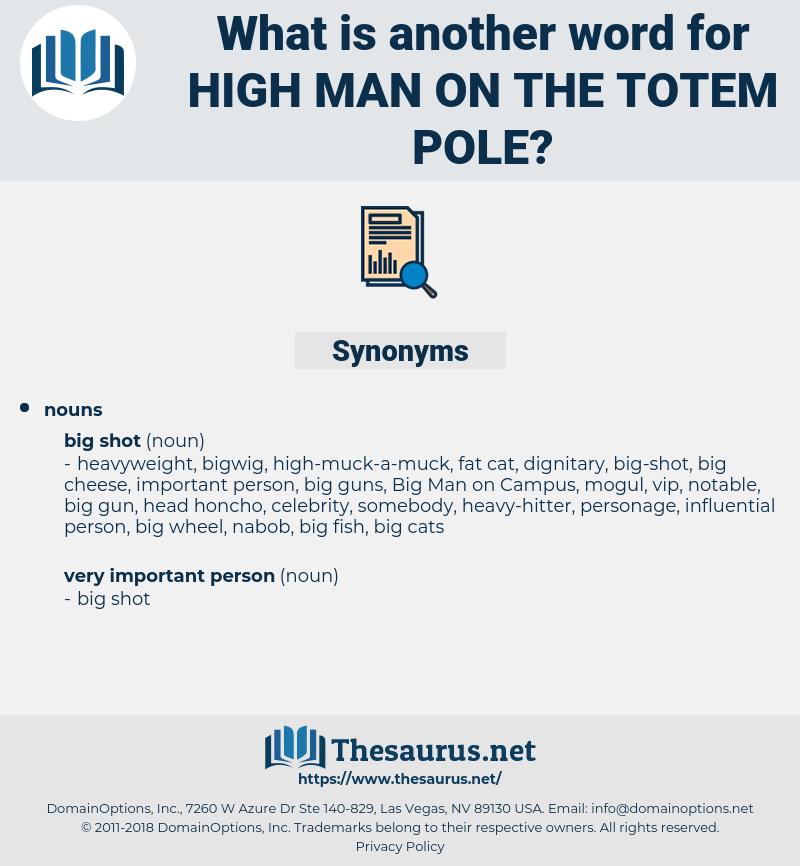 high man on the totem pole, synonym high man on the totem pole, another word for high man on the totem pole, words like high man on the totem pole, thesaurus high man on the totem pole