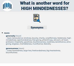 high-mindednesses, synonym high-mindednesses, another word for high-mindednesses, words like high-mindednesses, thesaurus high-mindednesses