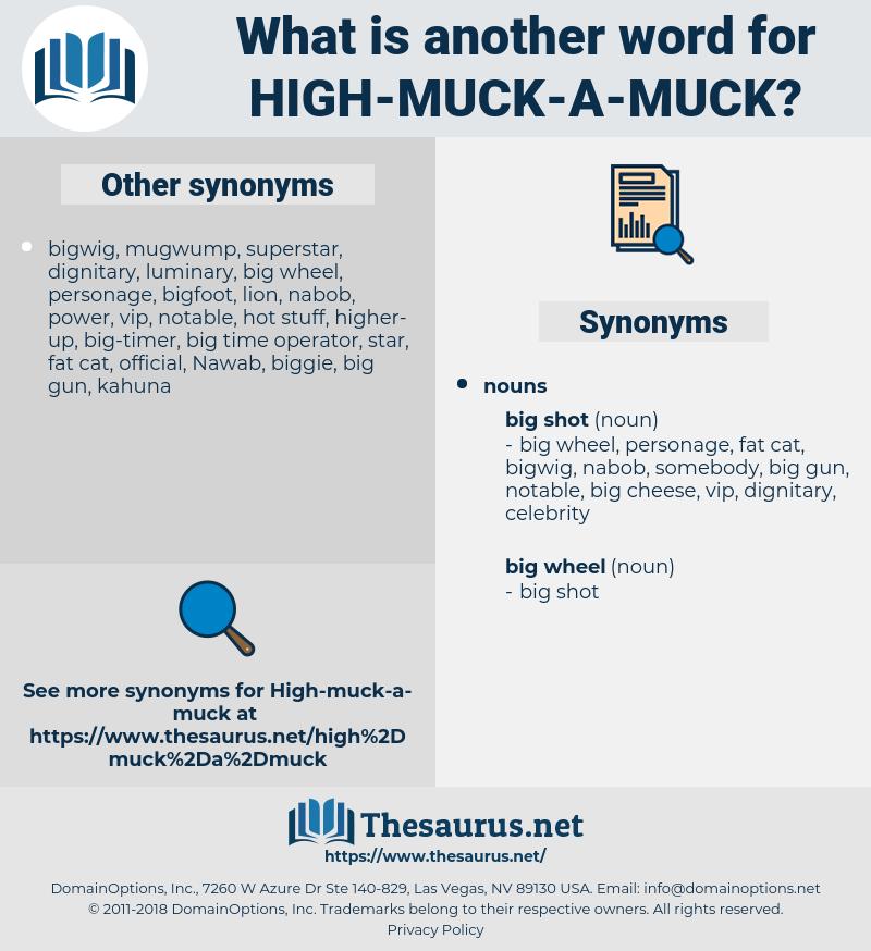 high-muck-a-muck, synonym high-muck-a-muck, another word for high-muck-a-muck, words like high-muck-a-muck, thesaurus high-muck-a-muck