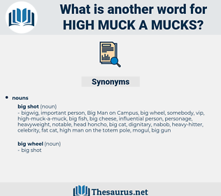 high muck a mucks, synonym high muck a mucks, another word for high muck a mucks, words like high muck a mucks, thesaurus high muck a mucks