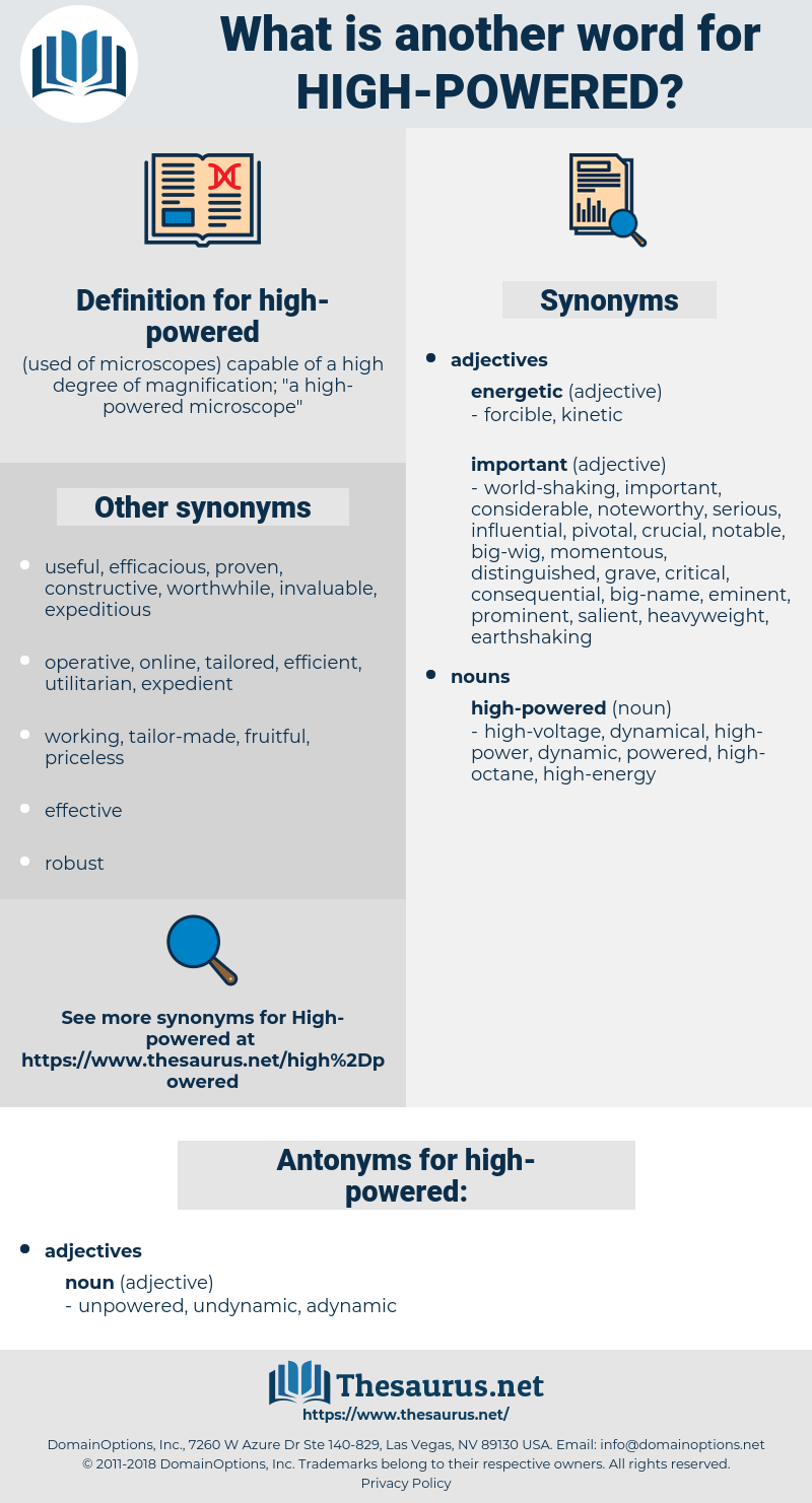 high-powered, synonym high-powered, another word for high-powered, words like high-powered, thesaurus high-powered