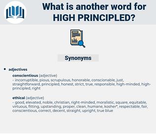 high-principled, synonym high-principled, another word for high-principled, words like high-principled, thesaurus high-principled