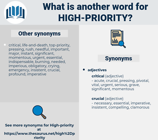 high-priority, synonym high-priority, another word for high-priority, words like high-priority, thesaurus high-priority