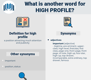 high-profile, synonym high-profile, another word for high-profile, words like high-profile, thesaurus high-profile