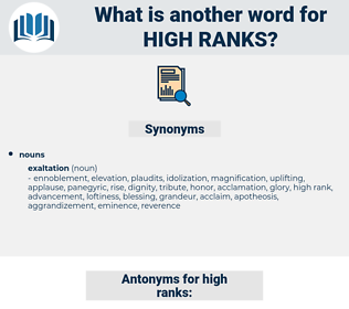 high ranks, synonym high ranks, another word for high ranks, words like high ranks, thesaurus high ranks