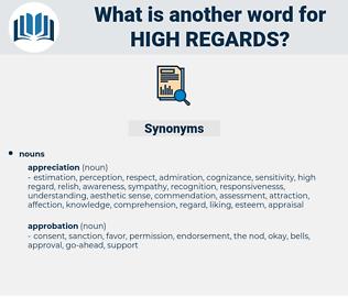 high regards, synonym high regards, another word for high regards, words like high regards, thesaurus high regards