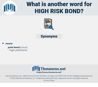 high-risk bond, synonym high-risk bond, another word for high-risk bond, words like high-risk bond, thesaurus high-risk bond