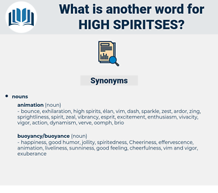 high spiritses, synonym high spiritses, another word for high spiritses, words like high spiritses, thesaurus high spiritses