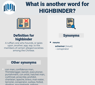 highbinder, synonym highbinder, another word for highbinder, words like highbinder, thesaurus highbinder