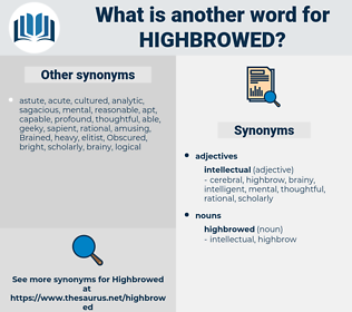 highbrowed, synonym highbrowed, another word for highbrowed, words like highbrowed, thesaurus highbrowed