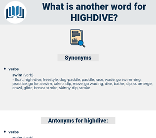 highdive, synonym highdive, another word for highdive, words like highdive, thesaurus highdive
