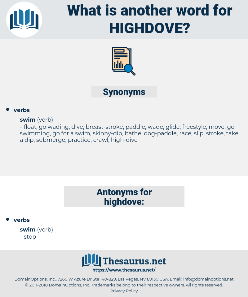 highdove, synonym highdove, another word for highdove, words like highdove, thesaurus highdove