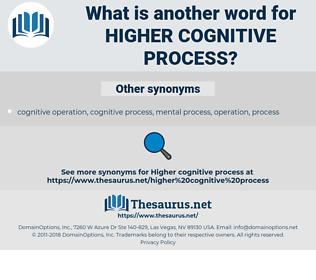 higher cognitive process, synonym higher cognitive process, another word for higher cognitive process, words like higher cognitive process, thesaurus higher cognitive process