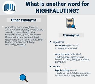 highfaluting, synonym highfaluting, another word for highfaluting, words like highfaluting, thesaurus highfaluting