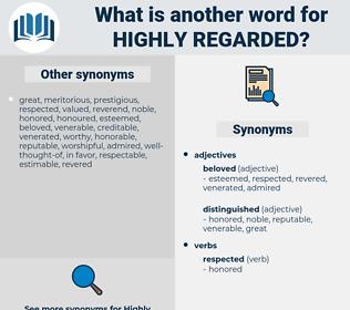highly regarded, synonym highly regarded, another word for highly regarded, words like highly regarded, thesaurus highly regarded