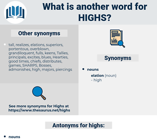 highs, synonym highs, another word for highs, words like highs, thesaurus highs