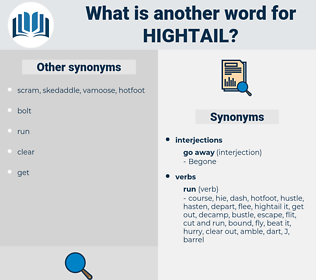 hightail, synonym hightail, another word for hightail, words like hightail, thesaurus hightail