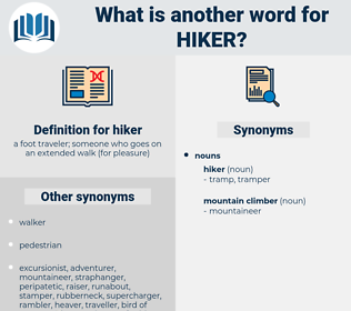 hiker, synonym hiker, another word for hiker, words like hiker, thesaurus hiker