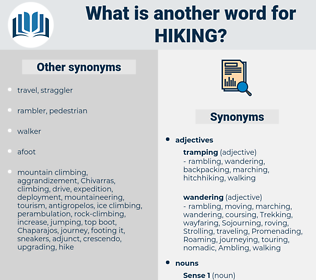 Hiking, synonym Hiking, another word for Hiking, words like Hiking, thesaurus Hiking