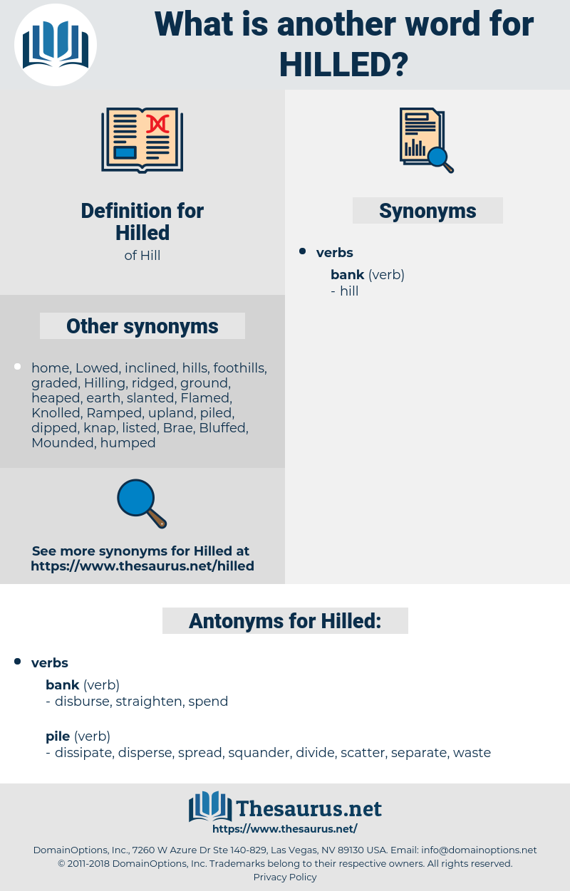 Hilled, synonym Hilled, another word for Hilled, words like Hilled, thesaurus Hilled