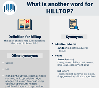 hilltop, synonym hilltop, another word for hilltop, words like hilltop, thesaurus hilltop