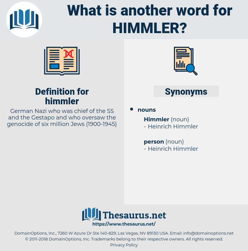 himmler, synonym himmler, another word for himmler, words like himmler, thesaurus himmler