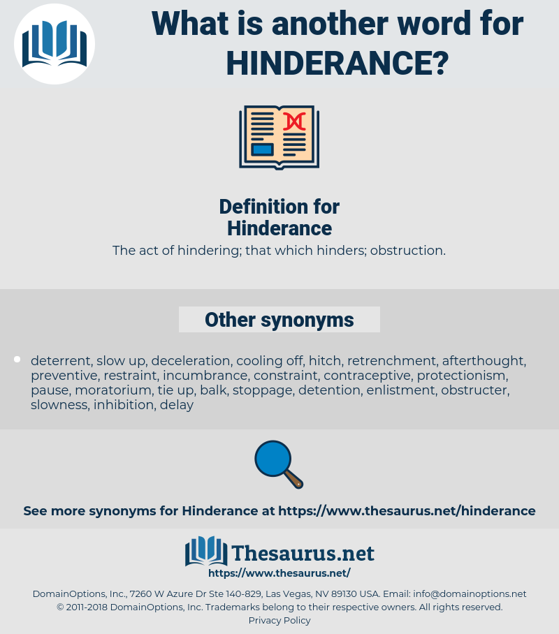 Hinderance, synonym Hinderance, another word for Hinderance, words like Hinderance, thesaurus Hinderance