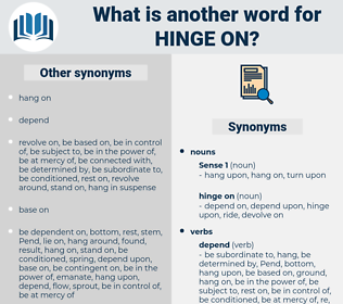 hinge on, synonym hinge on, another word for hinge on, words like hinge on, thesaurus hinge on