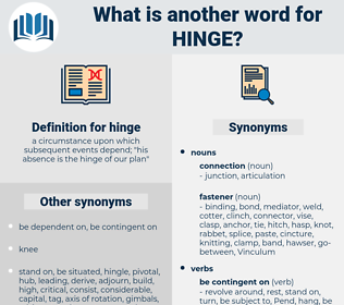 hinge, synonym hinge, another word for hinge, words like hinge, thesaurus hinge