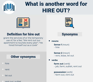 hire out, synonym hire out, another word for hire out, words like hire out, thesaurus hire out