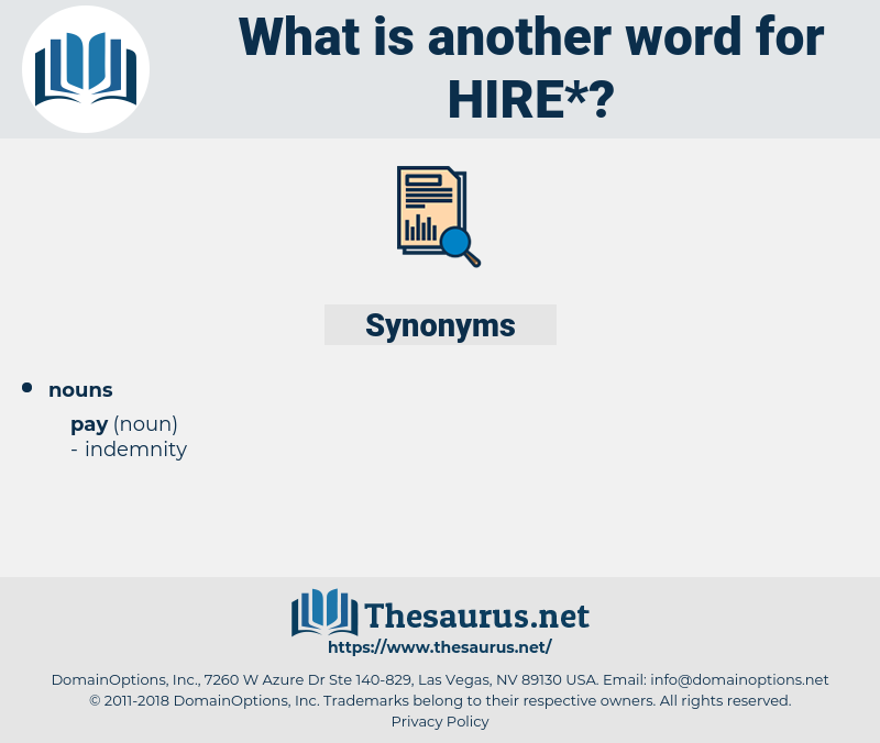 hire, synonym hire, another word for hire, words like hire, thesaurus hire