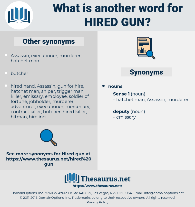 hired gun, synonym hired gun, another word for hired gun, words like hired gun, thesaurus hired gun