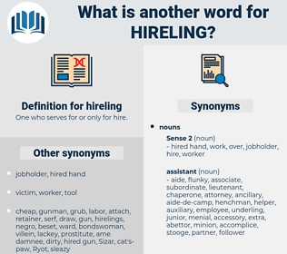 hireling, synonym hireling, another word for hireling, words like hireling, thesaurus hireling