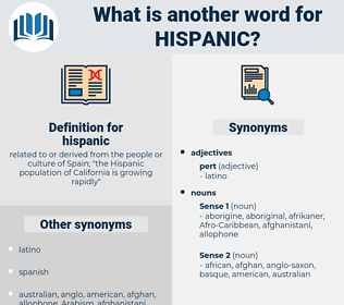 hispanic, synonym hispanic, another word for hispanic, words like hispanic, thesaurus hispanic