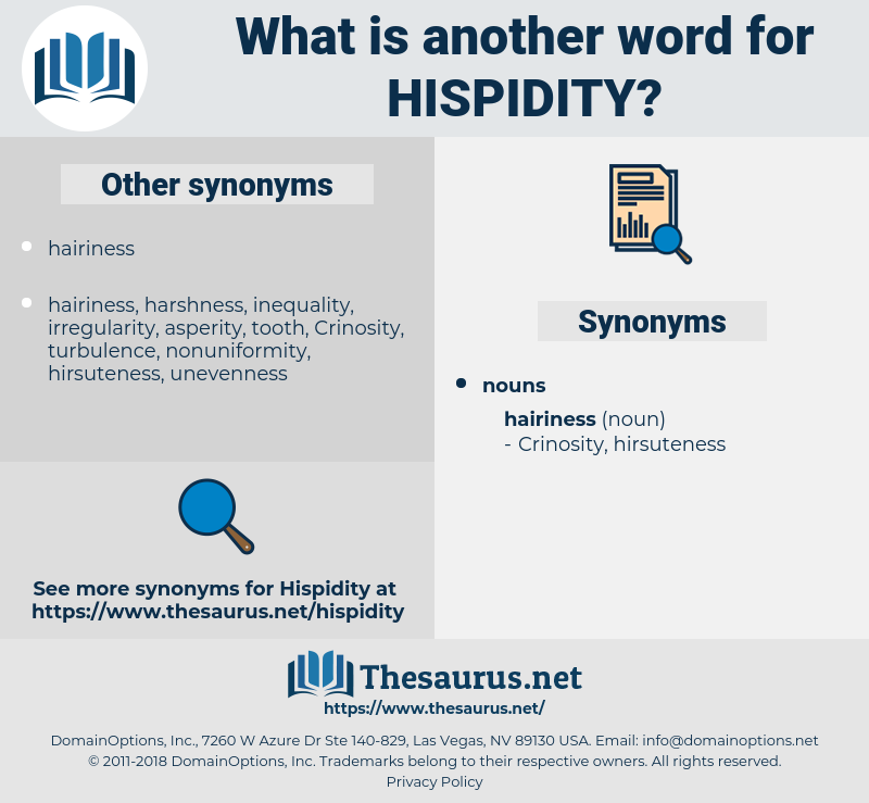 hispidity, synonym hispidity, another word for hispidity, words like hispidity, thesaurus hispidity